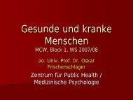 Gesunde und kranke Menschen - Oskar Frischenschlager