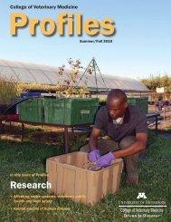 Summer/Fall 2010 PDF Version - University of Minnesota College of ...