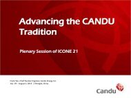 Advancing the CANDU Tradition - Candu Energy Inc.
