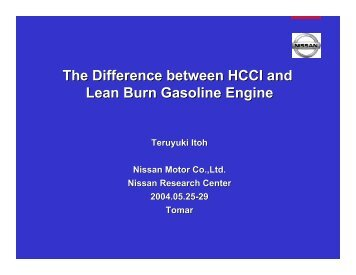 The Difference between HCCI and Lean Burn Gasoline Engine