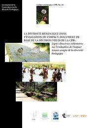 Secrétariat de la Convention sur la diversité biologique