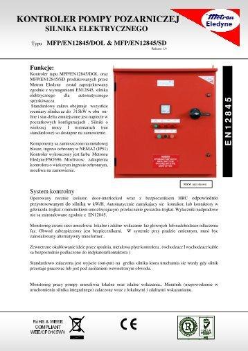 kontroler pompy pozarniczej silnika elektrycznego - Metron Eledyne