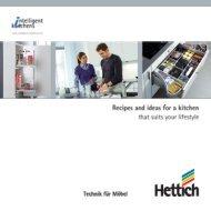 Intelligent Kitchens recipe book - Hettich