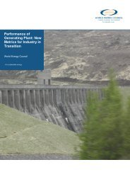 Performance of Generating Plant: New Metrics for Industry in ...