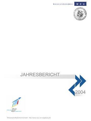 2004 - WissenschaftsZentrum Umwelt - Universität Augsburg