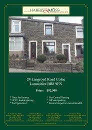 24 Langroyd Road Colne Lancashire BB8 9EN - Vebra