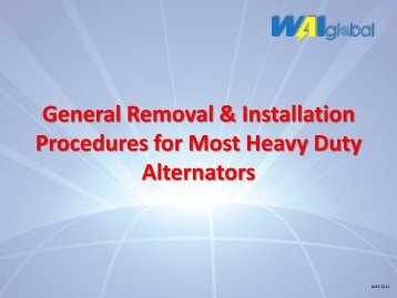 General Removal & Installation procedures for most ... - WAIglobal