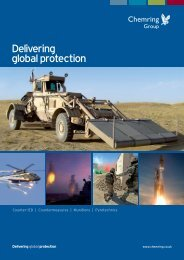 Delivering global protection - Chemring Group PLC