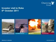 Investor visit to Roke 6th October 2011 - Chemring Group PLC