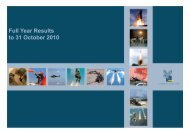 Full Year Results to 31 October 2010