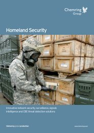 Homeland Security - Chemring Group PLC