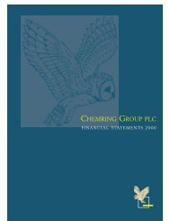Financial Statements - Chemring Group PLC