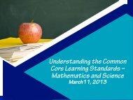 the March 11, 2013 PTA Council Presentation - Jericho School District