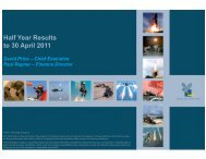 Half Year Results to 30 April 2011 - Chemring Group PLC