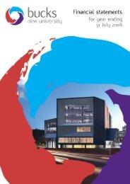 Financial report 2007-08 - Buckinghamshire New University