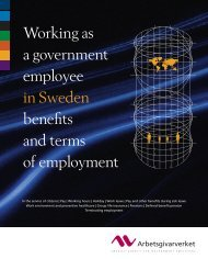 Working as a government employee in Sweden