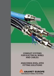 conduit systems for electrical wires and cables - Anamet