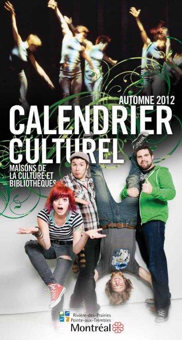 Calendrier culturel • Automne 2012 - Ismael Hautecoeur