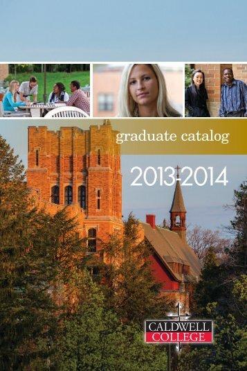 Graduate Catalog - Caldwell College