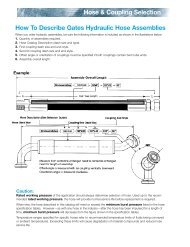Hose & Coupling Selection How To Describe Gates Hydraulic Hose ...