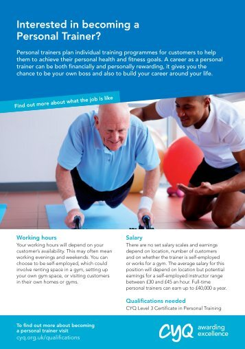Interested in becoming a Personal Trainer? - CYQ