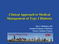 Clinical Approach to Medical Management of Type 2 Diabetes