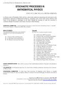 STOCHASTIC PROCESSES IN MATHEMATICAL PHYSICS - Page 2