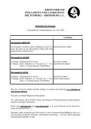 Richtlinien f. Ehrungen - Kreisverband für Garten und Landschaft ...
