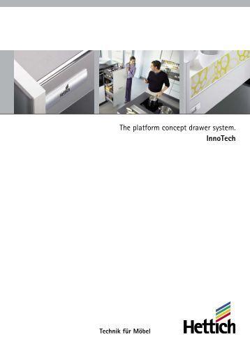 The platform concept drawer system. InnoTech - Hettich