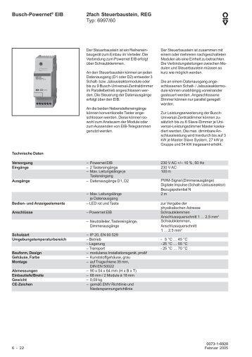 Technisches Handbuch - BUSCH-JAEGER Katalog
