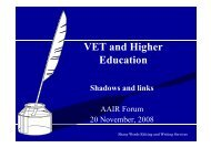 VET and higher education - aair