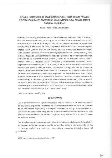 documento - Organismo Andino de Salud