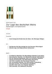 Zur Lage des deutschen Weins - WEINBUECHER.de