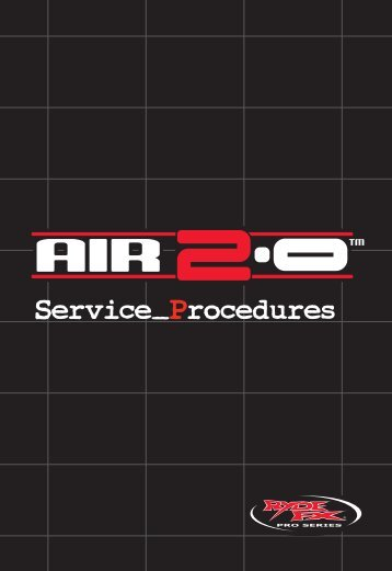 the RydeFX Air 2.0 Service Manual - Hi-Performance Engineering