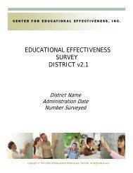Educational Effectiveness Sample Report - Center on Innovation ...