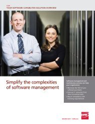 Software management capabilities overview - cdw healthcare ...