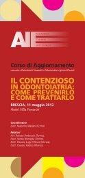 IL CONTENZIOSO - Accademia Italiana Endodonzia