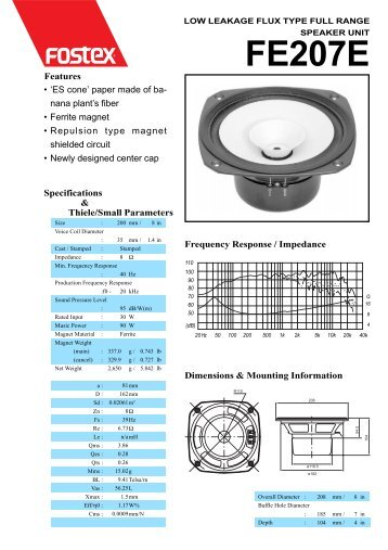 Fostex FE207E.pdf - audio alchemy