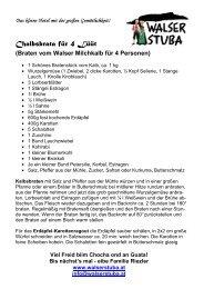 Kalbsbraten - Walser Stuba