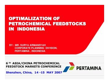 optimalization of petrochemical feedstocks in ... - CMT Conferences