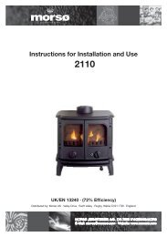 Instructions For Installation And Use 2110 - Stoves Online