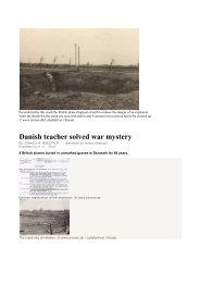 Danish teacher solved war mystery