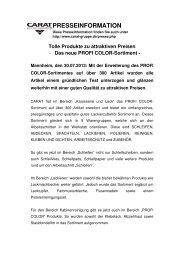 Das neue PROFI COLOR-Sortiment - CARAT Gruppe