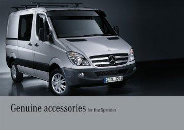 Genuine accessories f0r tha Sprinter - Mercedes-Benz PRAHA