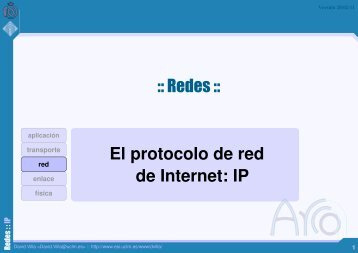 El protocolo de red de Internet: IP :: Redes ::