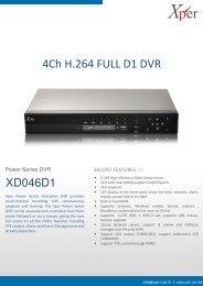 4Ch H.264 FULL D1 DVR - Xper
