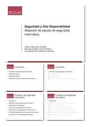 Seguridad y Alta Disponibilidad Adopción de pautas ... - Grupo ARCO