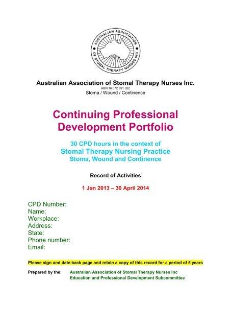 Continuing Professional Development Portfolio - Australian