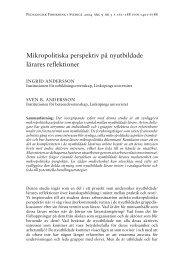 Mikropolitiska perspektiv på nyutbildade lärares reflektioner