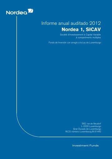 Informe anual auditado 2012 Nordea 1, SICAV - Mercagentes